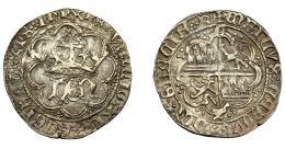252  -  REINOS DE CASTILLA Y LEÓN. ENRIQUE IV. Real. Cuenca. C y cuenco. AR 3,17 g. 25,7 mm. III- 710.3. BMM-904.3. MBC-.