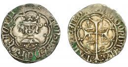 255  -  CORONA DE ARAGÓN. ALFONSO EL MAGNÁNIMO  (1416-1458). Real. Mallorca. Marcas lises en reverso. AR 3,35 g. 23,44 mm. IV-838. MBC-.