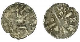 256  -  CORONA DE ARAGÓN. ALFONSO EL MAGNÁNIMO (1416-1458). Dinero. Cerdeña. AR 0,76 g. 16,3 mm. IV-878 vte. BC/BC+.