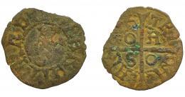 258  -  CORONA DE ARAGÓN. FERNANDO EL CATÓLICO (1479-1516). Calleres. Cerdeña. VE 0,63 g. 16,14 mm. IV-1279. BC-/BC.