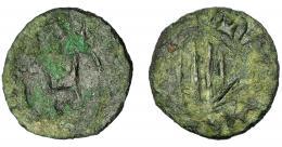 259  -  CARLOS I. Dinero. Cerdeña. Sassari. AE 0,47 g. 11,7 mm. CRU-3842? BC.