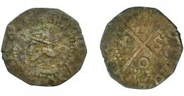 261  -  CARLOS I. Calleres. Cerdeña. A/ + CAROLVS D G IMPER. Corona cubierta. VE 0,73 g. 15,3 mm. CRU-4188a. BC-/BC.