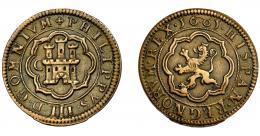 264  -  FELIPE III. 8 maravedís. 1601. Segovia. C. AC-254. MBC-.