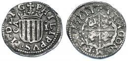 265  -  FELIPE III. Real. 1611. Zaragoza. AC-575. RC/MBC.