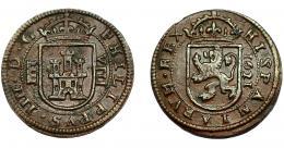 271  -  FELIPE IV. 8 maravedís. 1621. Segovia. AC-385. MBC+/MBC.