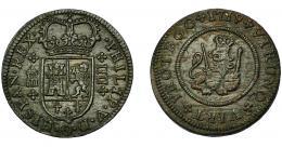 278  -  FELIPE V. 4 maravedís. 1719. Segovia. VI-80. EBC-.