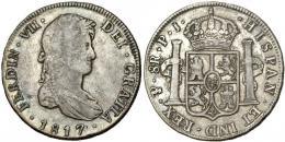 285  -  FERNANDO VII. 8 reales. 1817. Potosí. PJ. VI-1138. MBC-.
