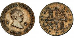 292  -  ISABEL II. 2 maravedís. 1849. Jubia. JA. VI-15. EBC-/EBC.