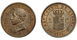 308  -  ALFONSO XIII. Céntimo. 1911. Madrid. PCV. VII-128. EBC-.