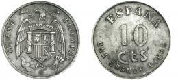 310  -  FRANCISCO FRANCO. 10 céntimos. III Año Triunfal. EBC-.