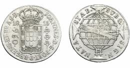 320  -  MONEDAS EXTRANJERAS. BRASIL. 960 Reis. 1815 (R). Reacuñados sobre 8 reales de Fernando VII de Lima (JP). MBC-.