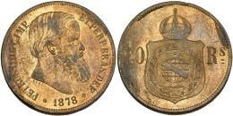 337  -  MONEDAS EXTRANJERAS. PORTUGAL. 40 reis. 1878. KM-479. R.B.O. EBC-.