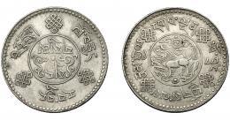 339  -  MONEDAS EXTRANJERAS. CHINA/TIBET. 3 srang. 1933. Y-25. MBC.