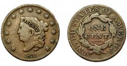 347  -  MONEDAS EXTRANJERAS. ESTADOS UNIDOS. Centavo. 1831. KM-45. Rayitas en rev. BC.