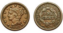 349  -  MONEDAS EXTRANJERAS. ESTADOS UNIDOS. Centavo. 1846. KM-67. BC+.