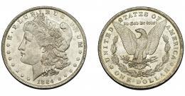 359  -  MONEDAS EXTRANJERAS. ESTADOS UNIDOS. 1 dólar. 1884-O. B.O. EBC.