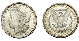 361  -  MONEDAS EXTRANJERAS. ESTADOS UNIDOS. 1 dólar. 1888. O. B.O. EBC.