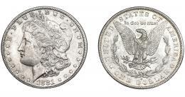 362  -  MONEDAS EXTRANJERAS. ESTADOS UNIDOS. Dólar 1881. Mínima marca en la cara. B.O. SC.