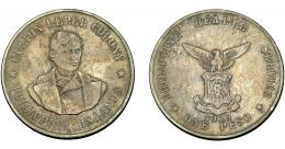 366  -  MONEDAS EXTRANJERAS. FILIPINAS. 1 peso. Leprosería de Culión. 1925. MBC-.