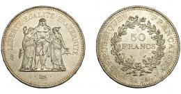 370  -  MONEDAS EXTRANJERAS. FRANCIA. 50 Francos. Napoleón III. 1975. KM-941.1. SC.