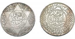 374  -  MONEDAS EXTRANJERAS. MARRUECOS. Yusuf 1/2 Rial. París (1331H). Y-32. EBC+.