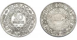 375  -  MONEDAS EXTRANJERAS. MARRUECOS. 20 Francos. Mahammed V (1352H). Y-39. MBc.