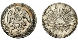 379  -  MONEDAS EXTRANJERAS. MÉXICO. 8 Reales. 1883. Guanajuajo. BR. KM-377.8. Resellos. MBC.