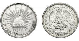 381  -  MONEDAS EXTRANJERAS. MÉXICO. Peso. 1898. AM Ciudad de México. KM-409. EBC.