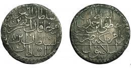 391  -  MONEDAS EXTRANJERAS. TURQUÍA. Otomanos. 30 Pares. Mustafa B. Ahmad (1757-1773). Estambul. K.P-316. MBC-.