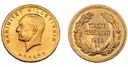 392  -  MONEDAS EXTRANJERAS. TURQUÍA. 100 kurush. 1923-90. Kemal Ataturk. KM-855. SC.