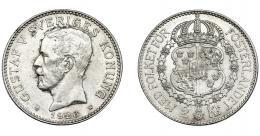 393  -  MONEDAS EXTRANJERAS. SUECIA. 2 Coronas. 1926. KM-558. B.O EBC +.
