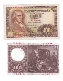 426  -  BILLETES ESPAÑOLES. BANCO DE ESPAÑA. 100 Pesetas. 5-1948. Serie C. ED- D57a. SC.