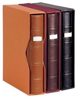 5  -  Album Pardo 4 anillas para billetes. Color Naranja-Marrón.