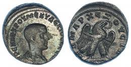 123  -  HERENIO ETRUSCO. Tetradracma. Antioquía (Siria). R/ Águila a der. SBG-4282. RPC- IX, 1651. EBC/EBC-.