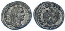 125  -  TREBONIANO GALO. Tetradracma. Antioquía. R/ Águila mirando a izq. SBG-4349. RPC-IX, 1787. EBC.