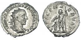 126  -  EMILIANO. Antoniniano. Roma (253). R/ Júpiter con haz de rayos y cetro; IOVI CONSERVAT. RIC-4. MBC+. Muy escasa.