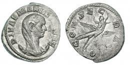 127  -  MARINIANA. Antoniniano. Roma. R/ Pavo real volando a der. con la emperatriz; CONSECRATIO. RIC-6. Leves vanos. MBC/MBC+.