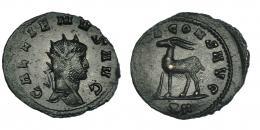 130  -  GALIENO. Antoniniano. Roma (267-268). R/ Cabra a izq.; (DIANA)E CONS AVG, exergo XII. RIC-181. MBC+.