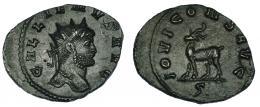 131  -  GALIENO. Antoniniano. Roma (267-268). R/ Cabra a izq.; IOVI CONS AVG, exergo S. RIC-207. EBC-.