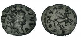 134  -  GALIENO. Antoniniano. Roma (267-268). R/ Pegaso a der.; SOLI CONS AVG, exergo A. RIC-283. MBC+.