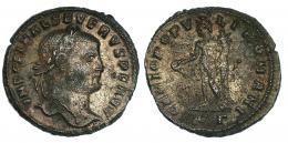 140  -  SEVERO II. Folis. Cízico (c. 307). R/ GENIO POPV-LI ROMANI; marca de ceca */KG (gamma). RIC-27b. RPO. MBC/BC+. Muy escasa.