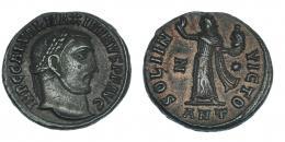150  -  MAXIMINO. Follis. Antioquía (312). R/ SOLI INVICTO; marca de ceca Z-*/ANT. RIC-167b. MBC+.