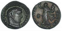 151  -  MAXIMINO. Follis. Antioquía (312). R/ SOLI INVICTO; marca de ceca B-*/ANT. RIC-167b. MBC/MBC+.