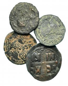 154  -  Lote 4 Follis Bizantinos. BC/MBC.