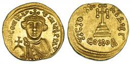 162  -  CONSTANS II. Sólido. Constantinopolis. R/ Oficina gamma. SBB-938. E.B:O. EBC-.