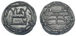 174  -  ABD AL-RAHMAN I. Dirham. Al-Andalus. 165H. V-63. EBC-.