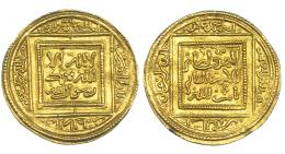 180  -  ALMOHADES. Abd al-Mumin. Dinar. Sin ceca, sin fecha (524-558/1130-1163). V-2047. Hazard-466. EBC.