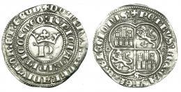 181  -  PEDRO I. Real. Sevilla. Círculos en los vértices de lobulado. III-380. BMM-528. MBC+.