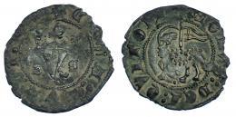184  -  JUAN I. Blanca del Agnus Dei. Burgos. III-549. Rotura al borde. MBC.