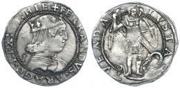 189  -  FERNANDO I DE NÁPOLES. Coronado. Nápoles (1458-1494). R/ Sin marcas. IV-1018. MBC/MBC-.